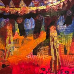 red tent - vibration art